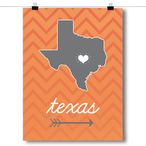 Texas State Chevron Pattern
