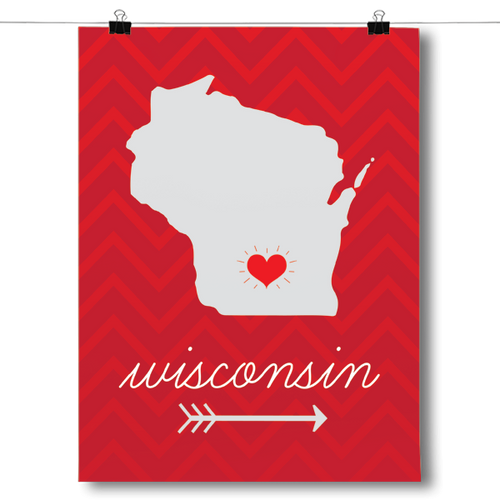 Wisconsin State Chevron Pattern