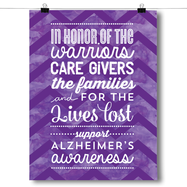 In Honor of Alzheimers Awareness