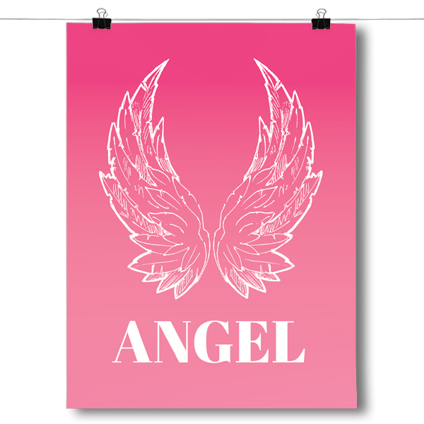 Pink Angel Wings