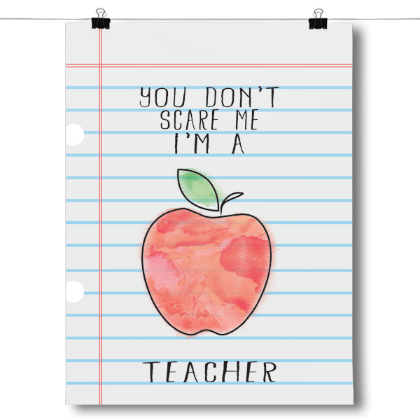 You Don't Scare Me - Teacher