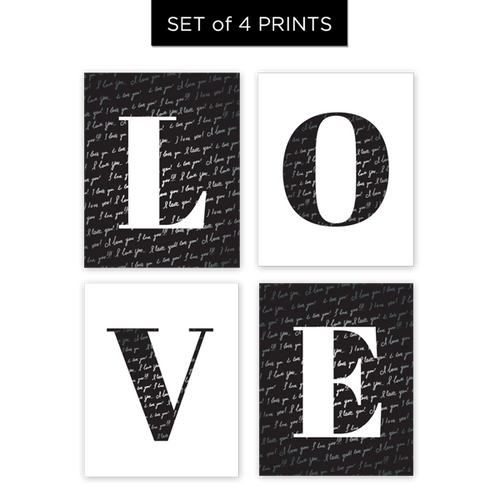 LOVE Letters - Set of 4 Prints