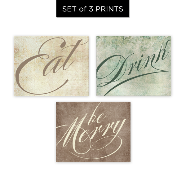 Eat Drink Be Merry Set of 3