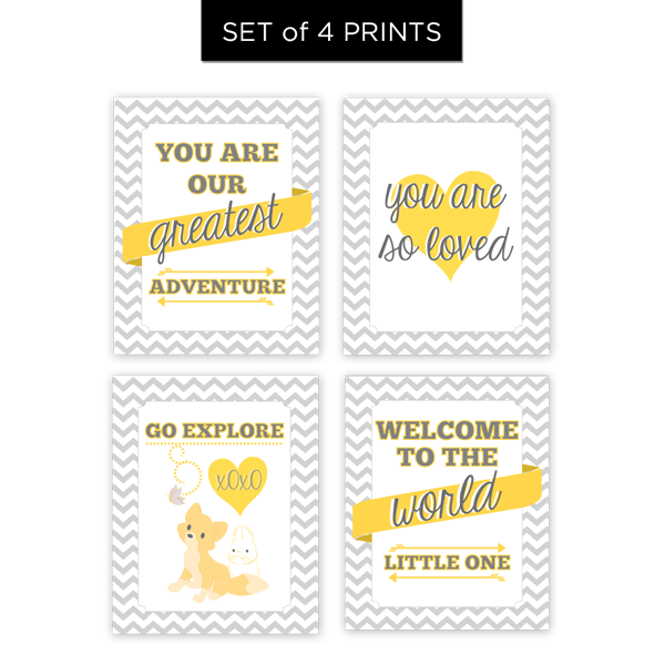 You are Our Greatest Adventure - Set of 4 Prints