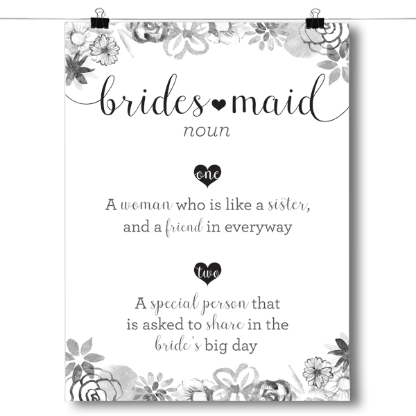 Definition of Bridesmaid