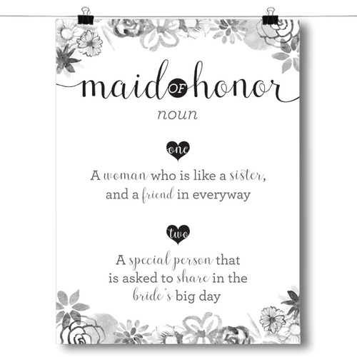 Definition of Maid of Honor