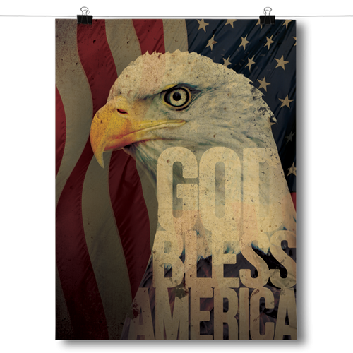 God Bless America - Bald Eagle