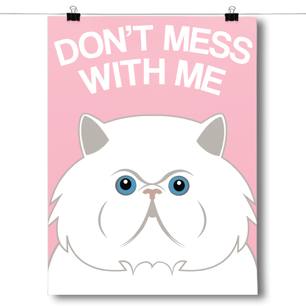 Don't Mess With Me - Persian Cat