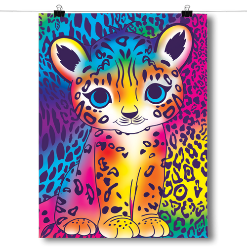 Bright and Colorful Leopard