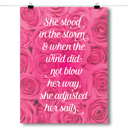 She Stood In The Storm - Breast Cancer Awareness