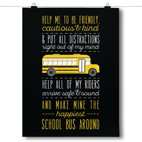 School Bus Driver Prayer - Black