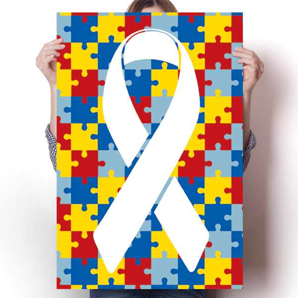 Autism Awareness Puzzle Pieces