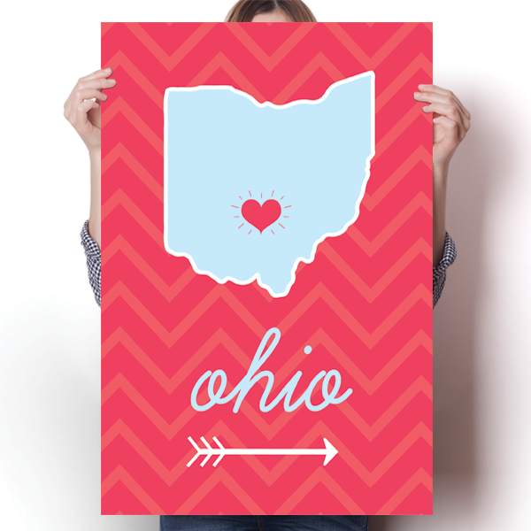 Ohio State Chevron Pattern