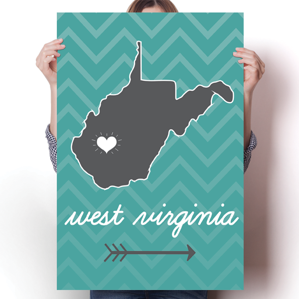 West Virginia State Chevron Pattern