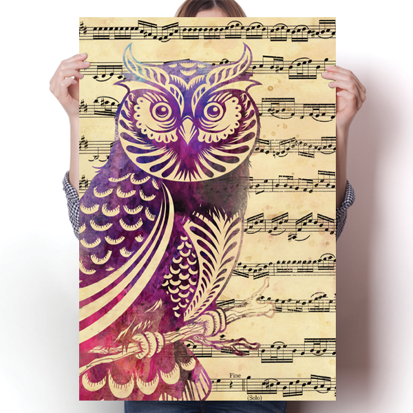 Owl with Music Notes