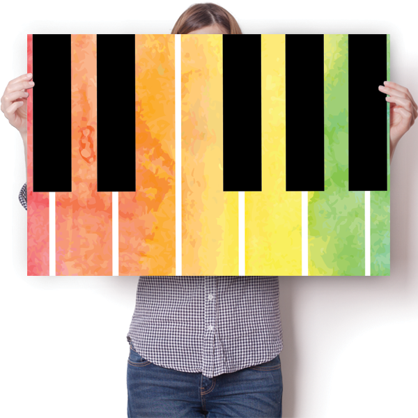 Piano Keys - Watercolor