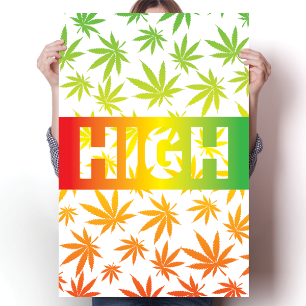 HIGH - Marijuana Leaf