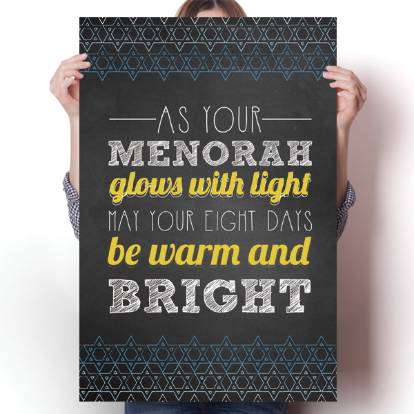 May Your Eight Days Be Warm and Bright - Hanukkah