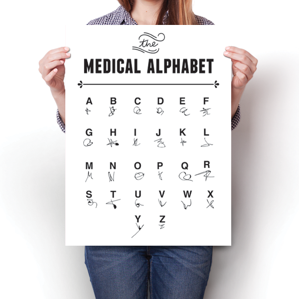 The Medical Alphabet - Doctor's Writing