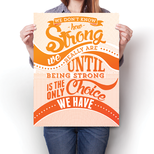How Strong - Orange Awareness Color