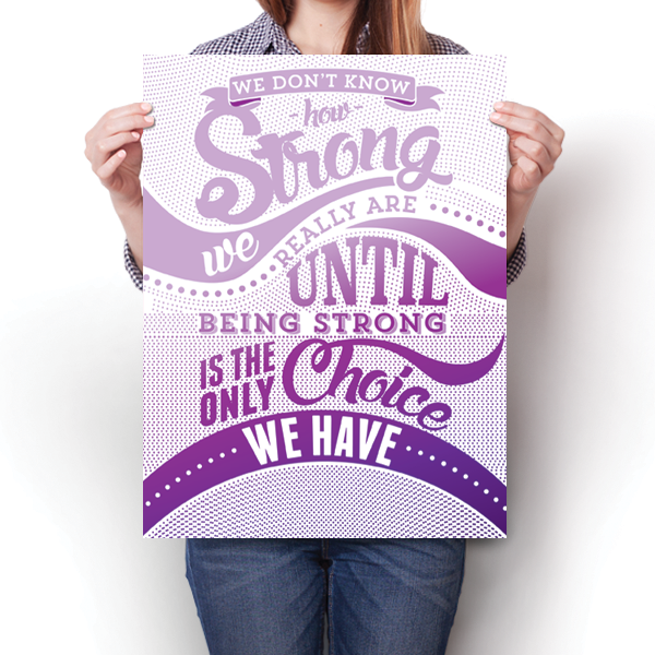 How Strong - Purple Awareness Color