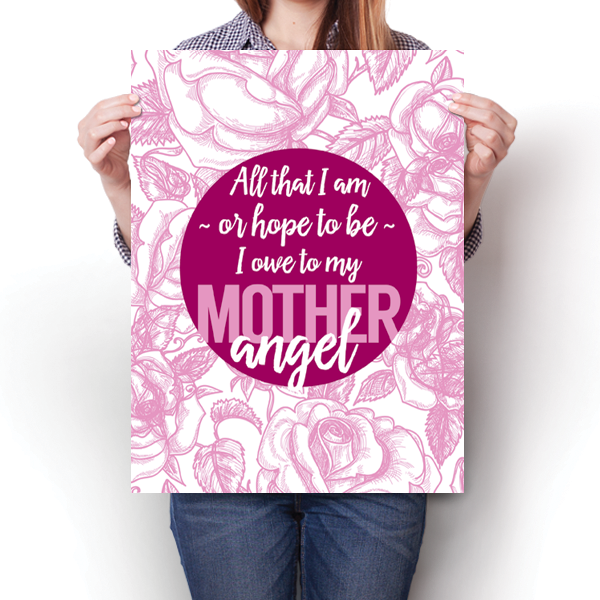 Mother Angel - Abraham Lincoln Quote