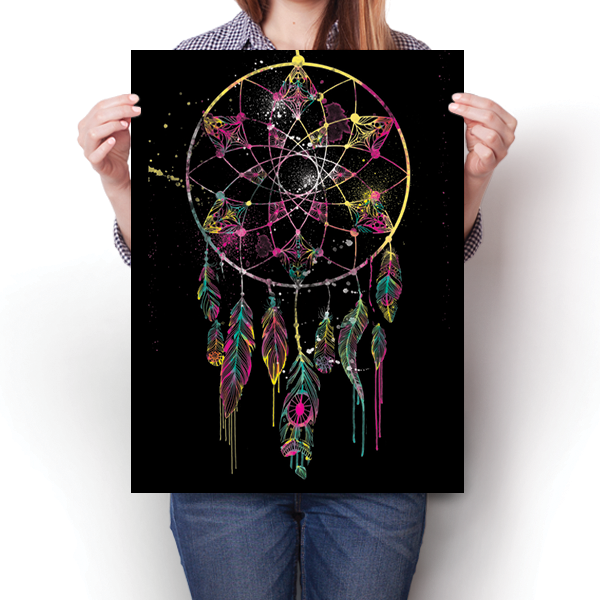 Watercolorful Dreamcatcher - Black