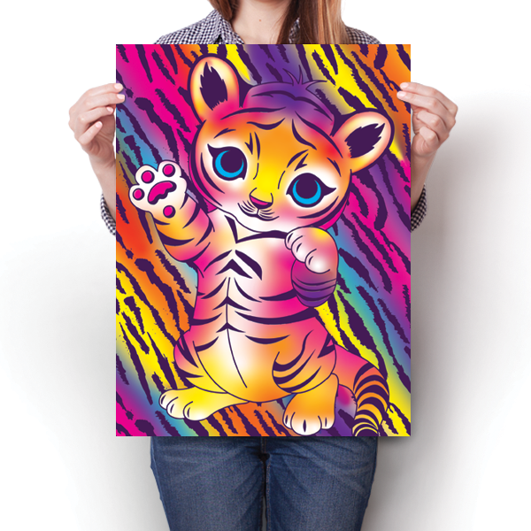 Bright and Colorful Baby Tiger