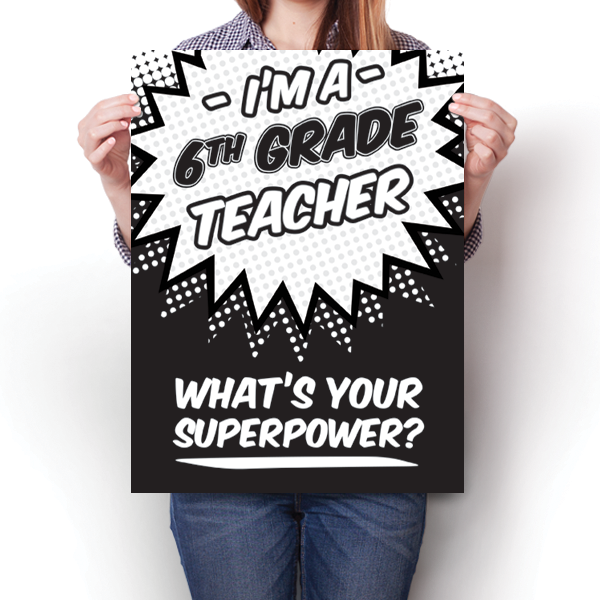 What's Your Superpower - 6th Grade Teacher