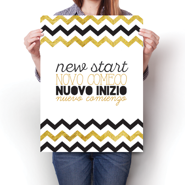 New Start - Chevron Pattern