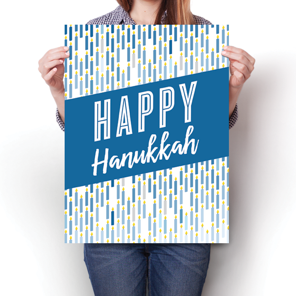 Happy Hanukkah - Candle Pattern