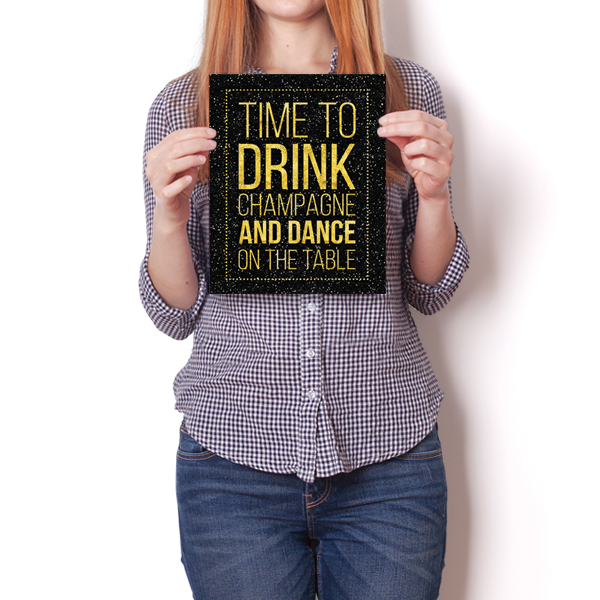 Drink Champagne & Dance Humor Funny