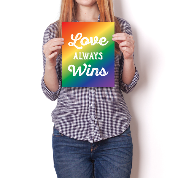 Love Always Wins - LGBT - Colored