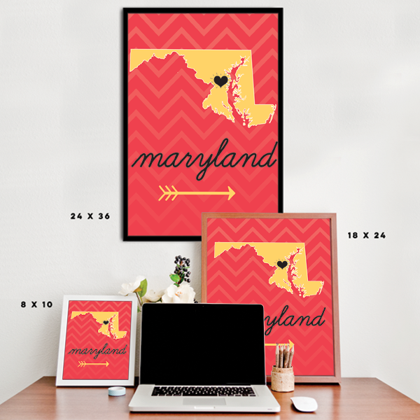 Maryland State Chevron Pattern