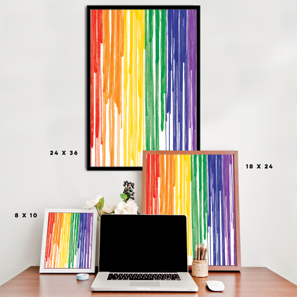 Dripping Paint LGBT Pride Flag