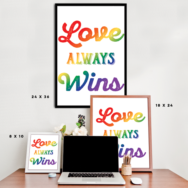 Love Always Wins - LGBT - White