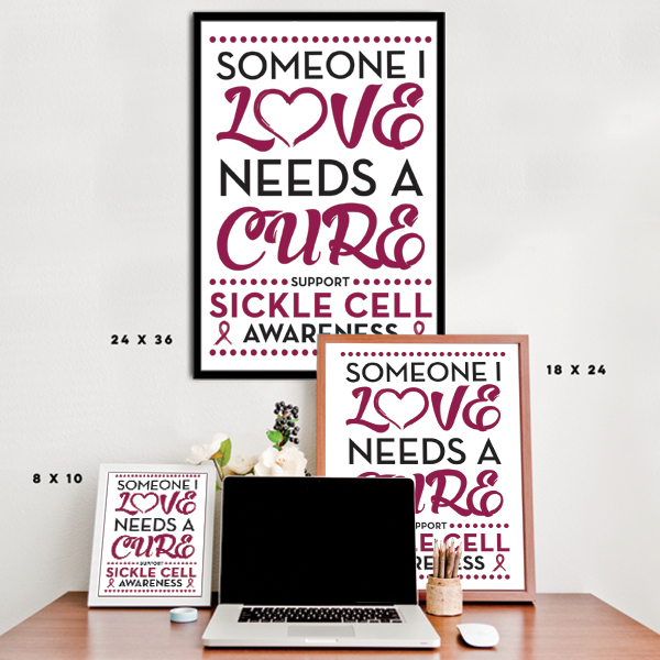 Sickle Cell - Someone I Love - Burgundy