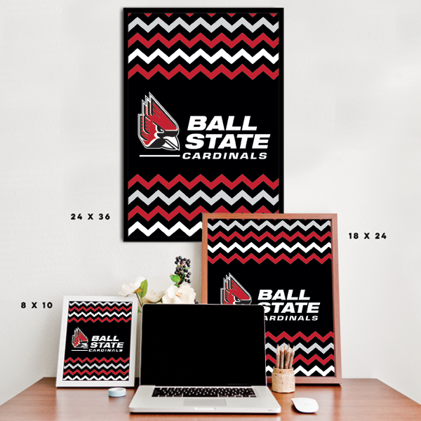 Ball State Cardinals - Chevron