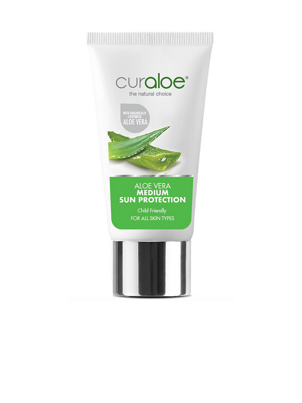 Curaloe Aloe Vera Medium Sun Protection 50ml