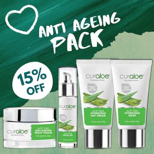 Anti-Ageing Kit - Aloe Facial Gel  /Hydrating Day Cream / Anti-Ageing Night Cream / Hydrating Mask