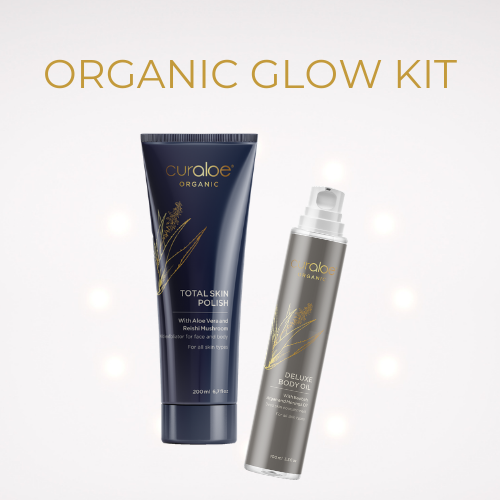Organic Glow Kit - Total Skin Polish 200ml , Deluxe Body Oil 100ml