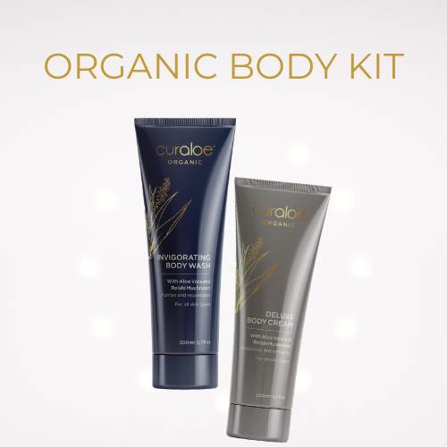 Organic Body Kit - Invigorating Body Wash 200ml , Deluxe Body Cream 200ml