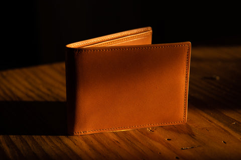 The Swanton Billfold Wallet in Salz's California Saddle Leather
