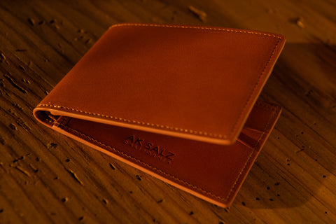 The Swanton Billfold Wallet in California Saddle Leather