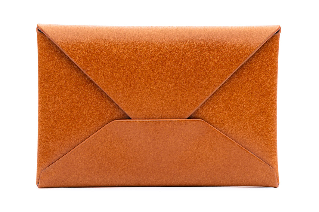 AK Salz Card Envelope in Vegetable Tanned California Saddle Leather