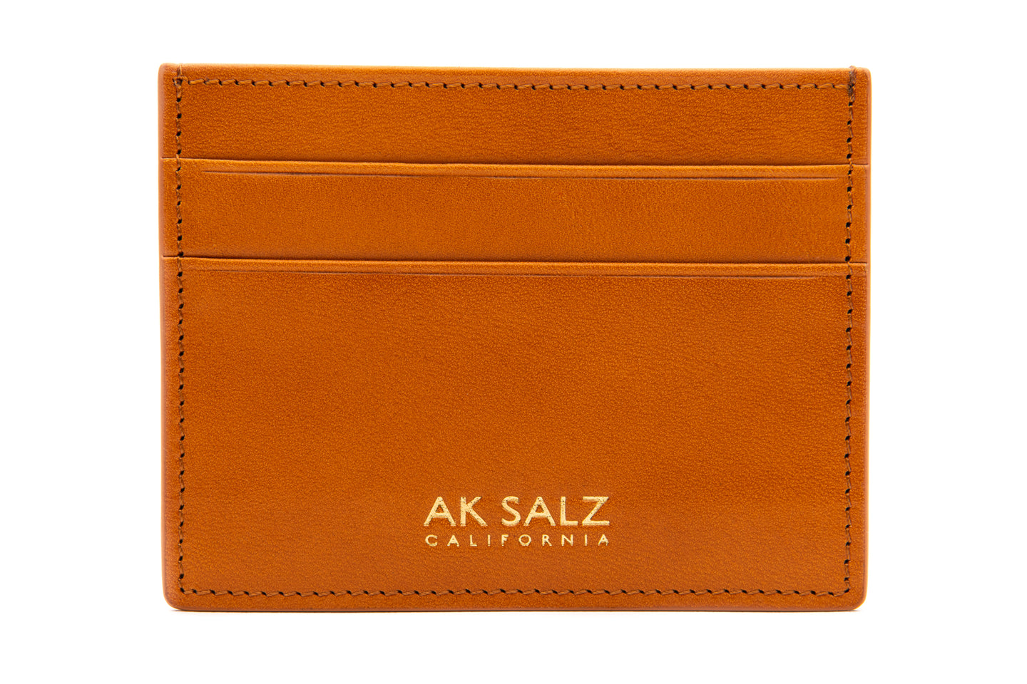 AK Salz Card Case in Vegetable Tanned California Saddle Leather