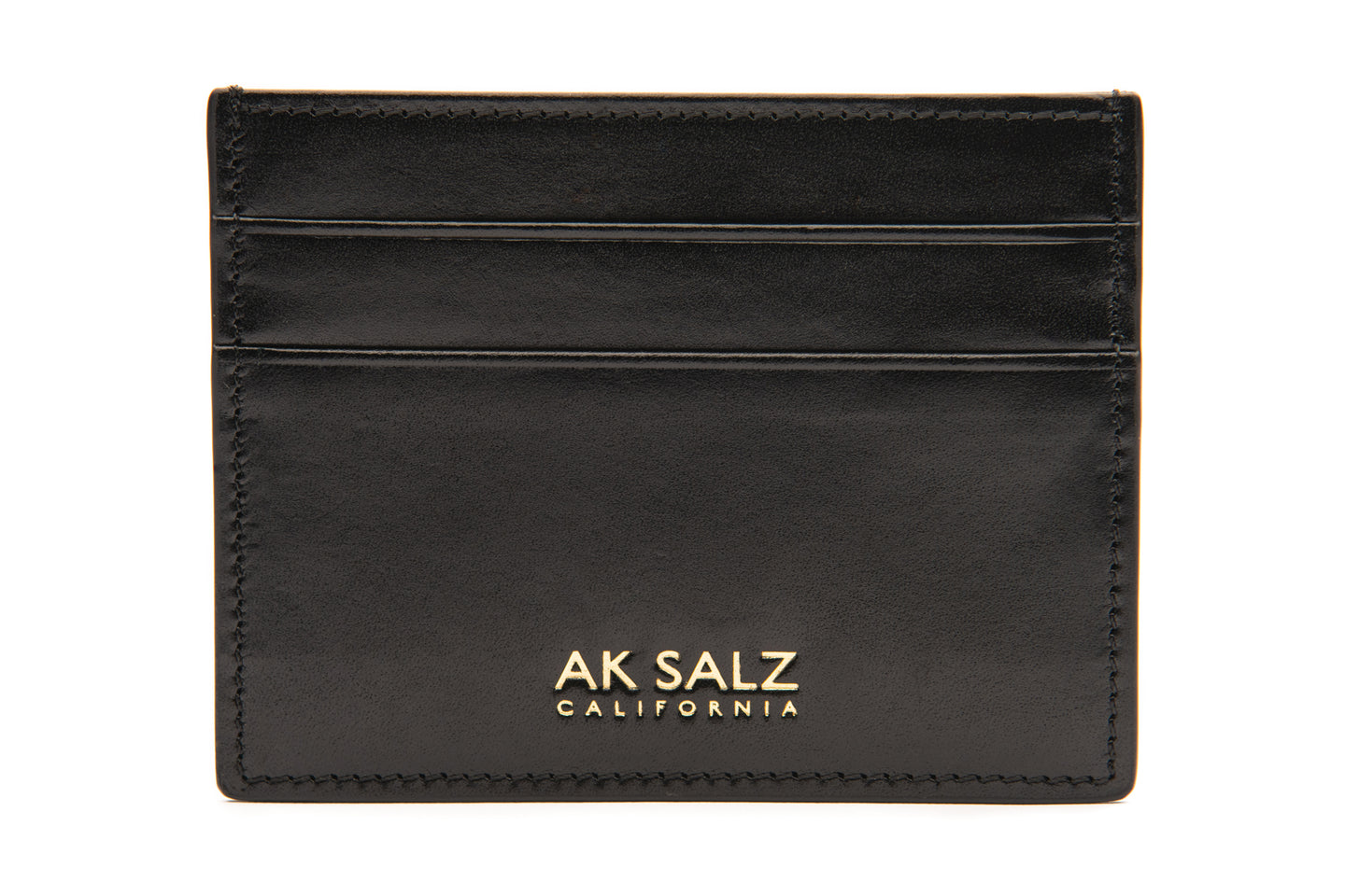AK Salz Card Case in Vegetable Tanned Rodeo Black Leather