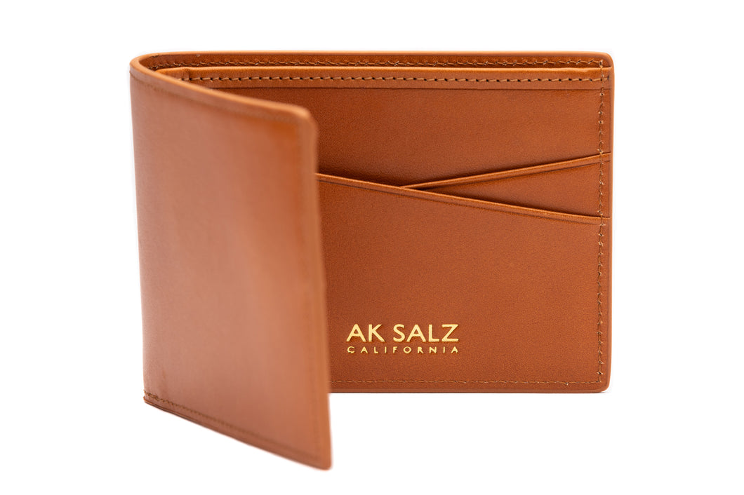 AK Salz Wallet in Vegetable Tanned California Saddle Leather