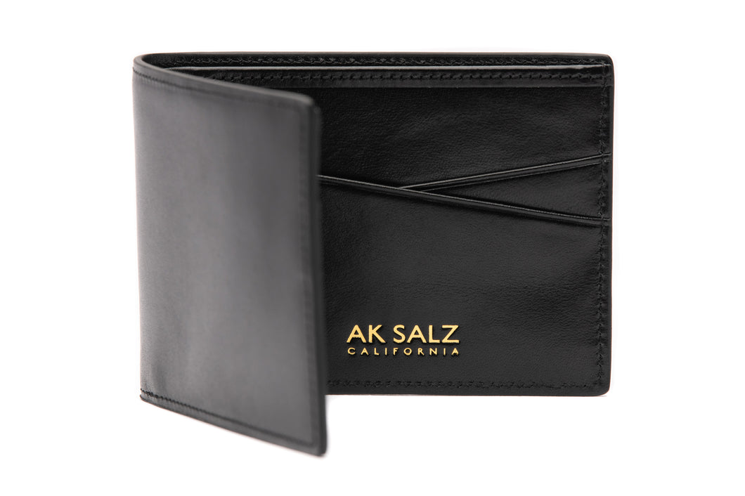 AK Salz Wallet in Vegetable Tanned Rodeo Black Leather