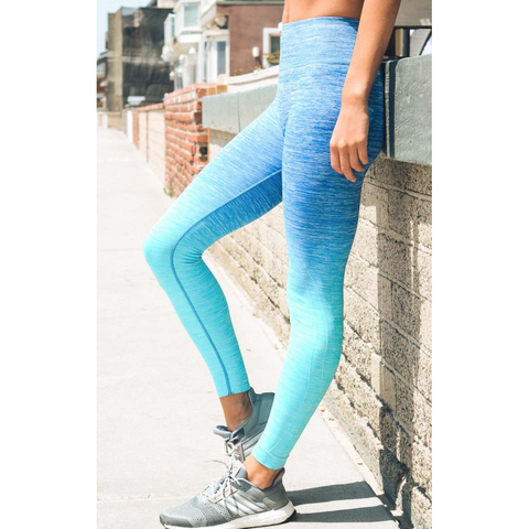 Blue Ombre Sports / Yoga Leggings